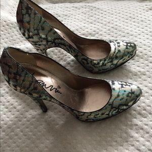 Lanvin multicolor heels